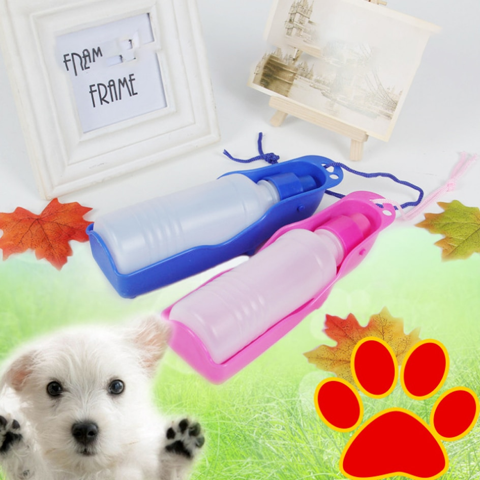 250ml / 500ml naminių šunų vandens butelis, plastikinis - Naminių gyvūnėlių produktai - Nuotrauka 4