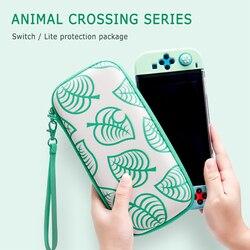 Para animal crossing saco de armazenamento para nintendo switch lite caso duro ns lite console transporte portátil saco de viagem acessórios do jogo