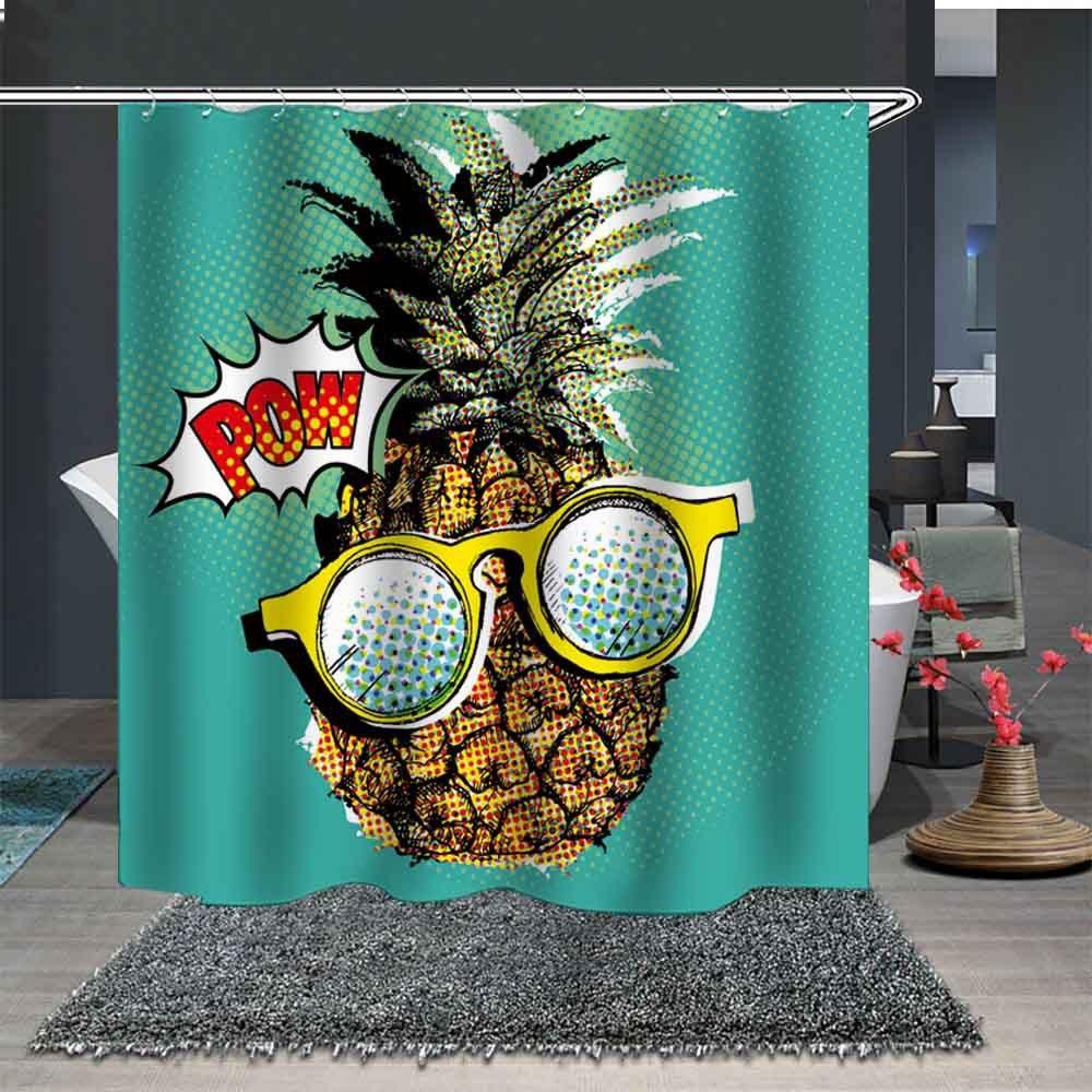 Les produits de salle de bain daventure de haute qualité du rideau de douche série ananas