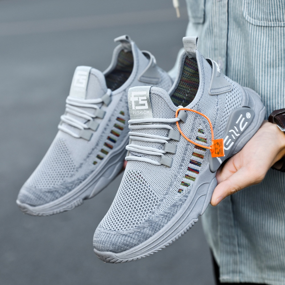 2021 Spring And Autumn New High Quality Lightweight Casual Running Sneakers Fashion Trend All-match Men Shoes men s running shoes autumn new style pu sneakers high quality outdoor lightweight and comfortable sneakers men s sneakers