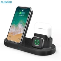 aldnoah 15w fast charge stand 3 in 1 qi wireless charger dock station for iphone 12 11 xs xr x 8 apple watch 6 5 4 3 2 airpods