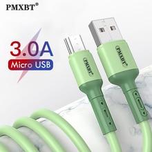 Câble Micro USB 3A cordon de données de charge rapide pour Samsung S7 S6 J6 Xiaomi Redmi 4 5 téléphone Android câble de chargeur Microusb 1M/1.5M/2M