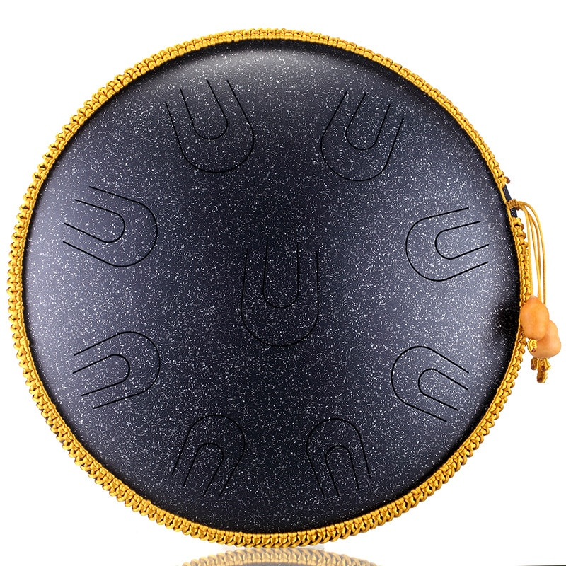 hluru-a-copper-steel-9-notes-14inch-d-tones-ethereal-empty-tongue-drum-percussion-tambourine-music-instrument-handpan-meditation