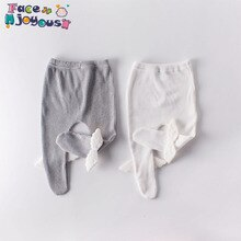 Pantalons de dessin animé pour filles   Vêtements pour enfants en coton, bébés ailes dange mignonnes, collants taille élastique tricotés, bas de collant