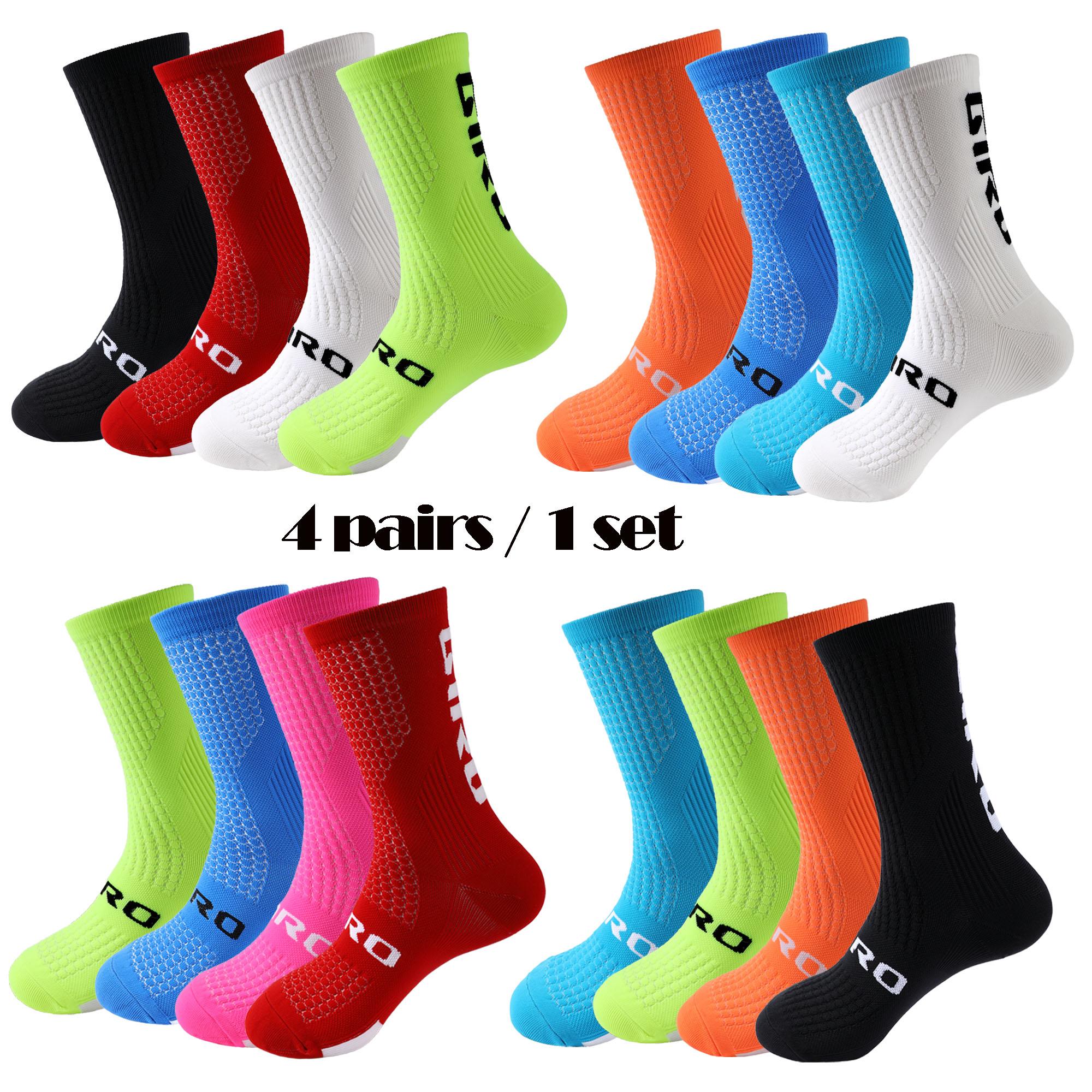 4 пар/компл. Велосипеды Носки мужские Носки сжатия Носки спортивные носки Носки Бег Носки Баскетбол Носки для женщин