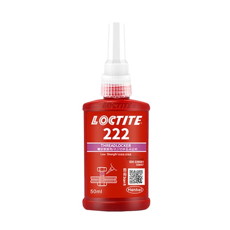 Винтовой Клей Loctite, 50 мл, 222 низкоинтенсивный клей для винтового уплотнения, анаэробный супер-клей, антискользящий клей для винтового замка