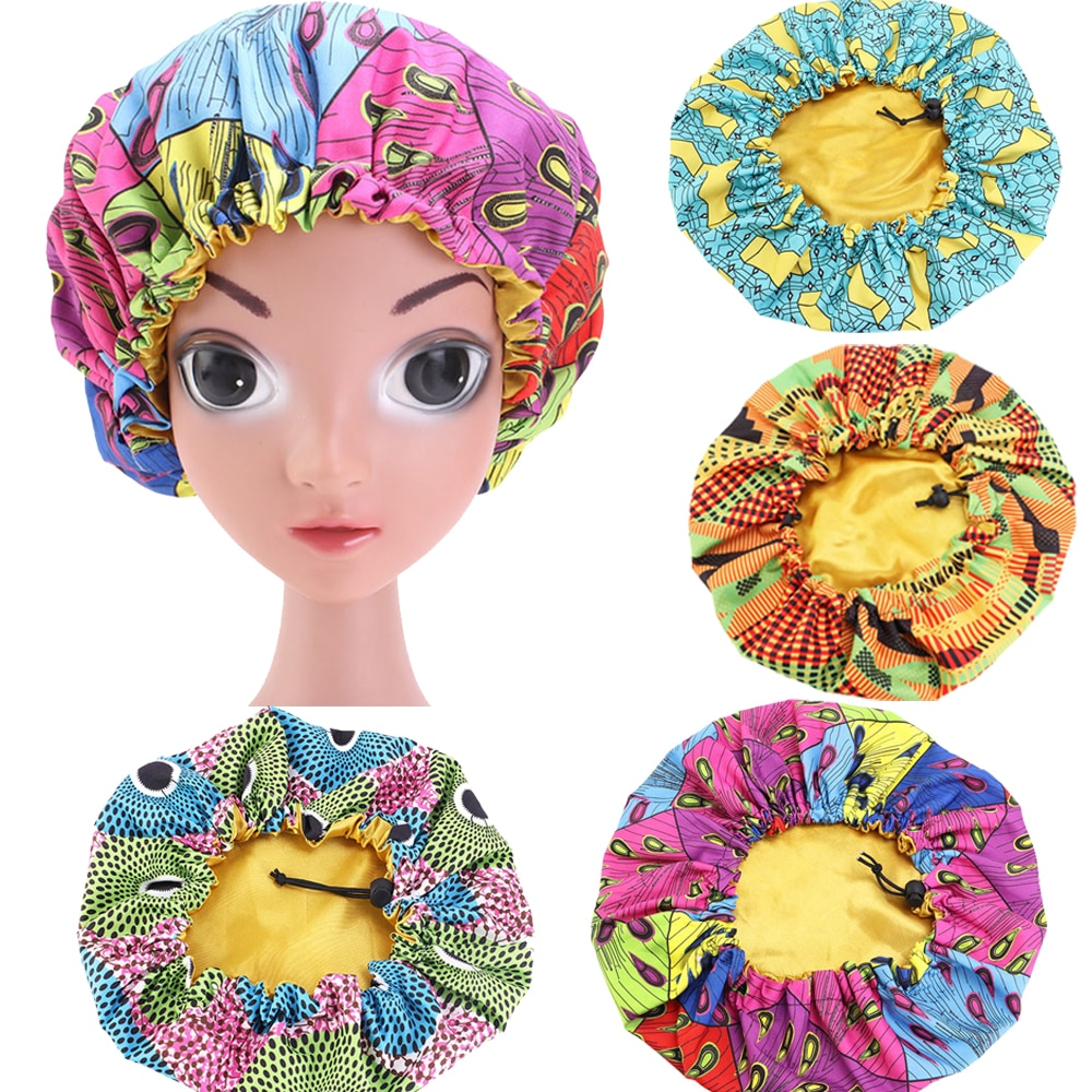 Touca de cetim para crianças, chapéu com tira elástica para dormir à noite, chapéu para cuidados com o cabelo, tampa ajustável para perda de cabelo peles skullies