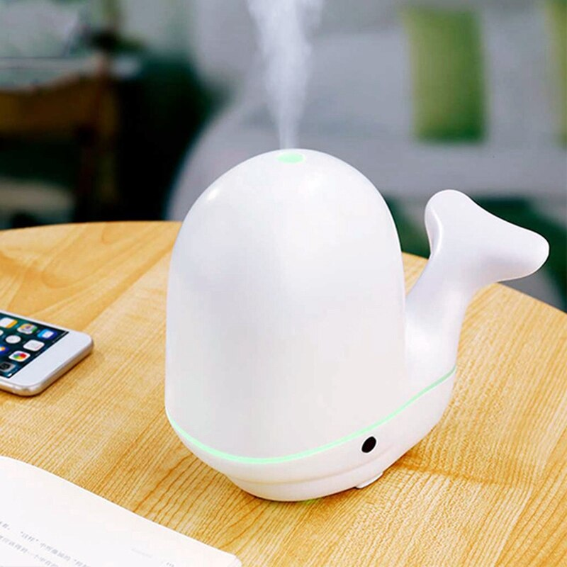 Humidificador de aire de ballena, difusor ultrasónico de aceites esenciales Usb para aromaterapia para habitación de bebé en casa