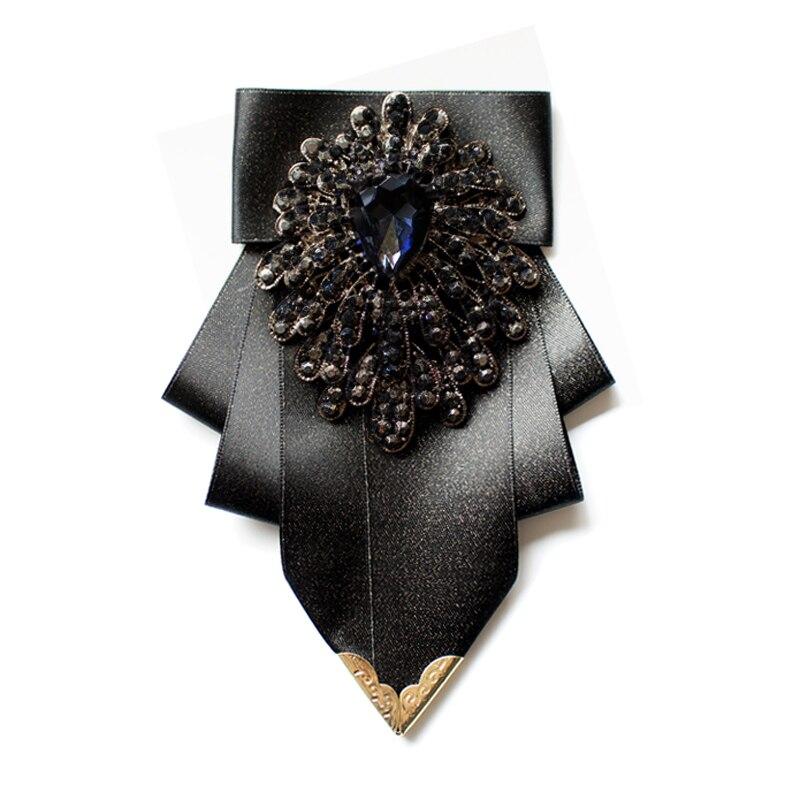 Британский галстук-бабочка мужские Роскошные Синие стразы аксессуары для делового банкета свадебного платья рубашки подарок мужские ювел...