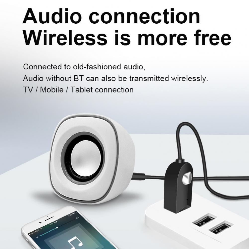 USB Car Bluetooth Adapter Wireless Bluetooth 5.0 Handsfree Navigation BT Audio Receiver for Computer Mobile Phone Wired Speaker belcat btc 5 wireless bluetooth receiver digital transmission system for phone and computer with 5m connector line