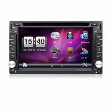 """6.2 """"2 Din Wince 범용 카 라디오 3D 회전 UI DVD SWC BT 라디오 RDS 차량용 멀티미디어 플레이어"""
