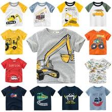 INPEPNOW 2020 T-shirt pour enfants pour garçons T-shirt voiture couverture en coton enfant T-shirts pour filles enfants garçon T-shirt anniversaire T-shirt