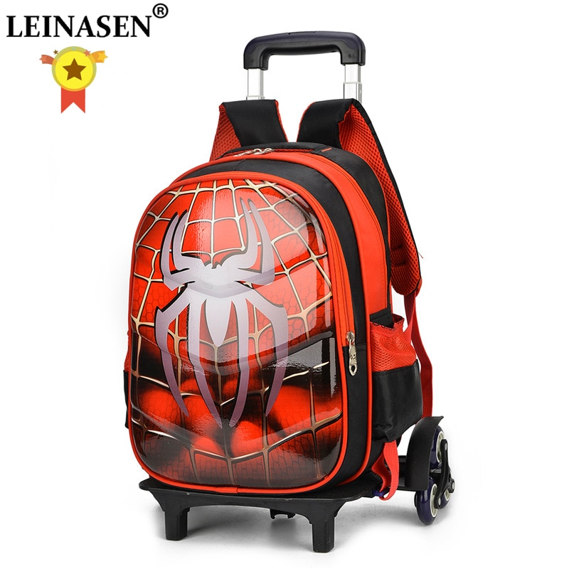 Disney 3D Anime Travel Suitcase Student School Bag Climbing Stairs Suitcase Children Cartoon Backpack Boy Stationery Bag