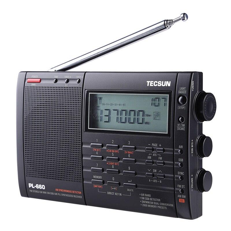 PL-660 PLL SSB VHF الهواء الفرقة راديو استقبال FM/MW/SW/LW متعدد الفرقة المزدوج TECSUN I3-001
