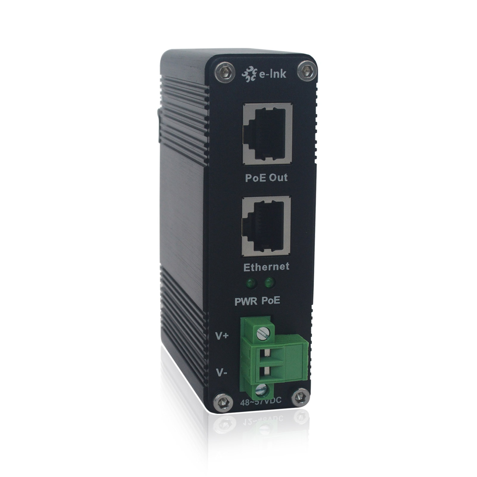 10/100/1000Mbps Industrial POE++ Adapter Din Rail Mount Gigabit High Power 802.3 bt 95w POE Injector with 48V Output