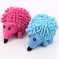pet dog hedgehog shaped toy dog soft chew bite resistant molar squeaky toy durable dog molar toy for clean teeth