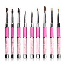 hot 1Pc UV Gel Nail Art Design Carving Painting Pen Polish Brush DIY Manicure