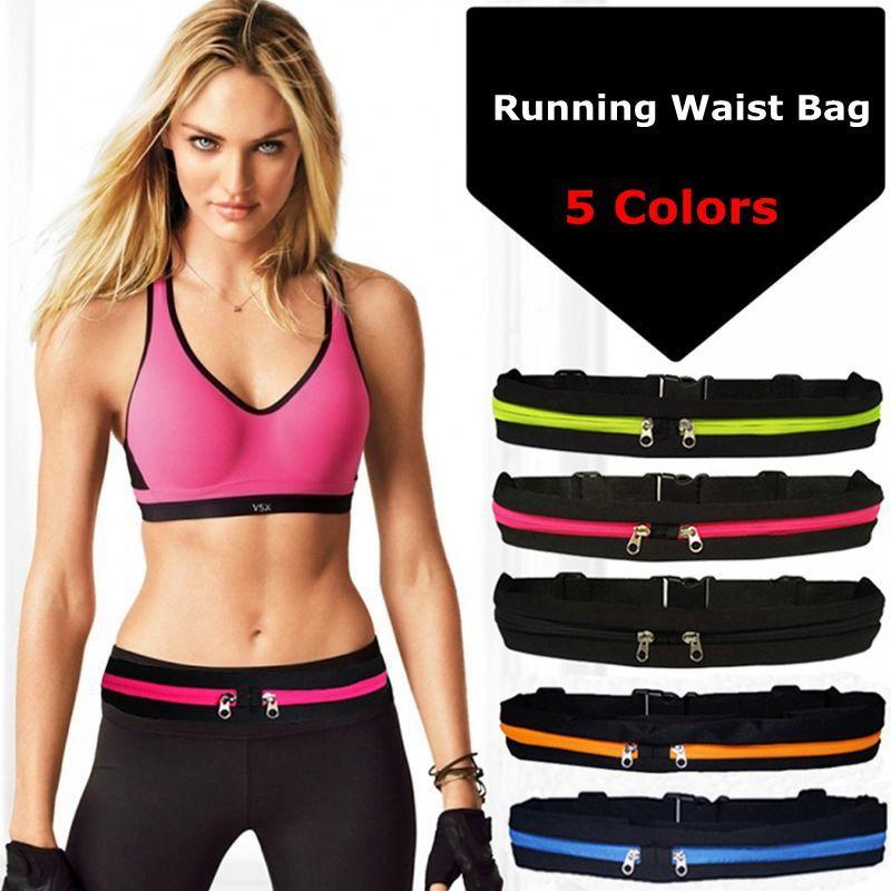 Спортивная сумка для бега, поясная сумка, карманная Сумка для бега, портативная водонепроницаемая сумка-бананка для велоспорта, уличная сум...