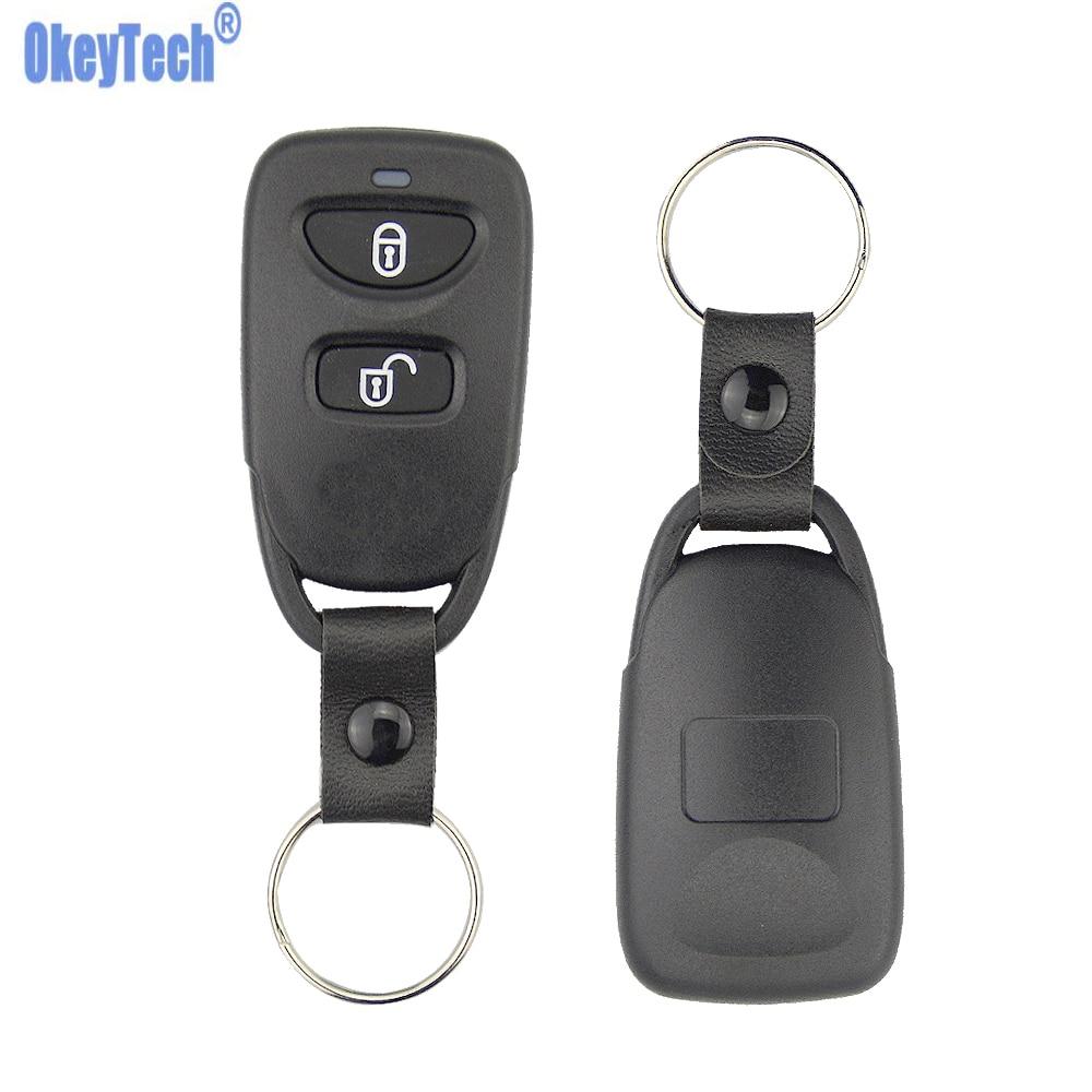 OkeyTech новая Замена 2 кнопки дистанционного ключа автомобиля оболочка для Hyundai Elantra Santa Fe Eagle Terracan KIA Sorento Forte Cerato