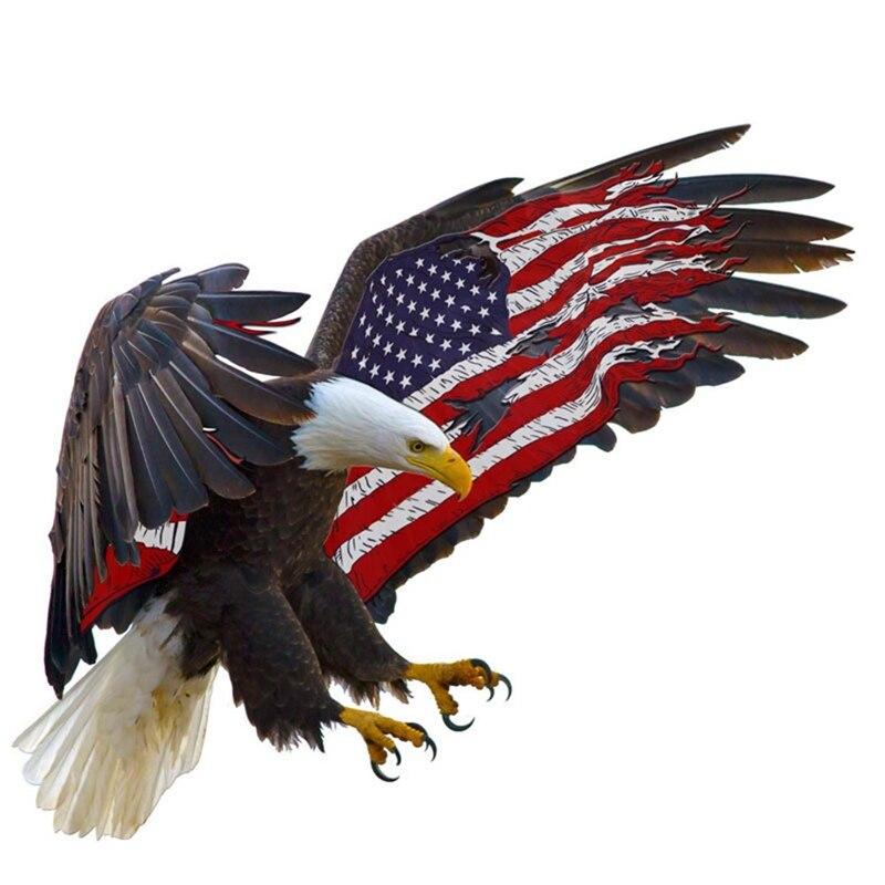 Американский флаг, автомобильная наклейка с американским орлом, автомобильная наклейка, флаг США, наклейка с логотипом s для автомобиля, авт...
