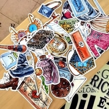 Kawaii journal Theme Watercolor sticker christmas stickers magic Halloween stationery pegatina thank you cute adesivo gift