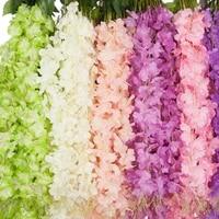 Guirlande de fleurs artificielles de glycine  fausses vignes  plante en soie  decoration de mariage  de maison  de jardin  Bouquet de fleurs de Simulation epais