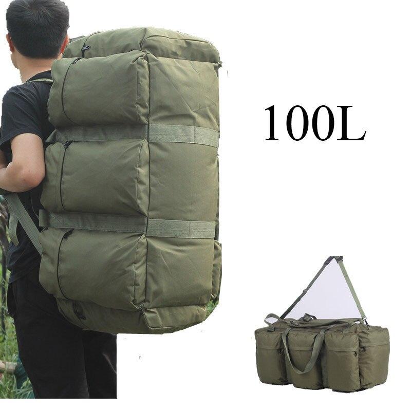 100L на открытом воздухе Альпинизм Кемпинг Альпинизм Для мужчин женских сумок большой Ёмкость путешествия Пеший Туризм рюкзак Чемодан рюкзак