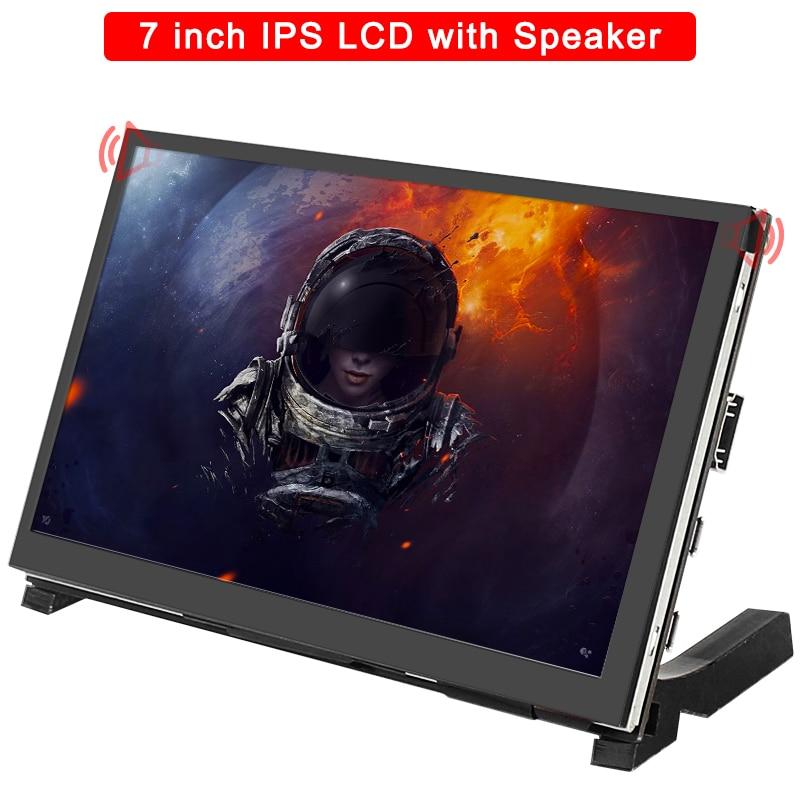 شاشة 7 بوصة راسبيري بي 4 موديل B تعمل باللمس 1024x600 IPS بالسعة LCD مع رئيس ل راسبيري بي 3B +/3B/نفيديا جيتسون نانو