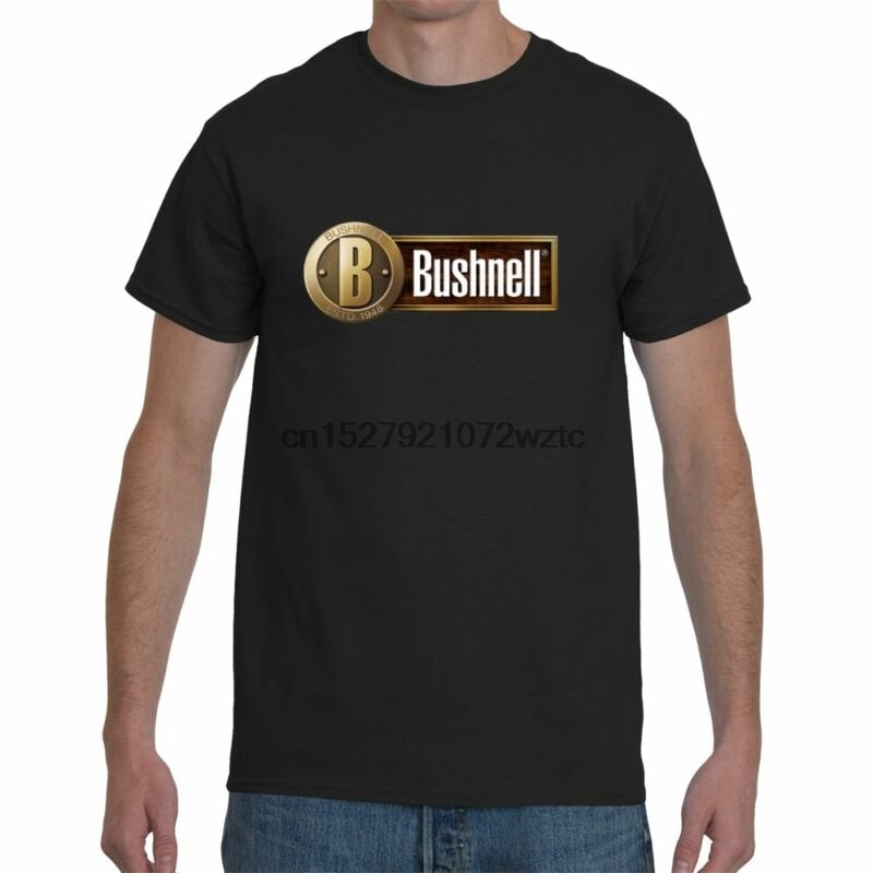 Novo bushnell scope elite masculina preto manga curta camiseta tamanho S-5XL