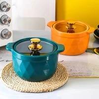 light luxury ceramic casserole soup household casserole ceramic pot high temperature resistant pot rice casserole gas stove