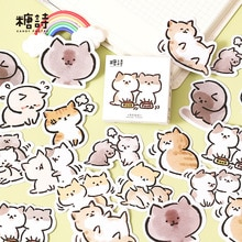 45 Pcs Cats Family Stickers For Scrapbooking Diary Planner Album Phone Case Card Making Laptop