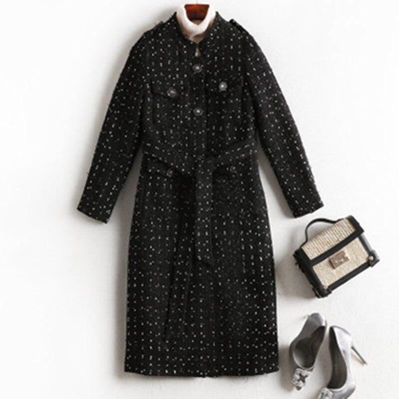 Abrigo de invierno 2019, abrigo largo para Mujer, abrigo de mezcla de...