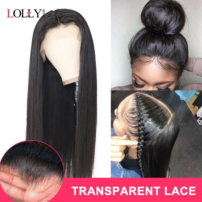 Pelucas delanteras de encaje 13x4 de Lolly pelucas delanteras de encaje Lacio de Malasia pelucas frontales predesplumadas con cabello de bebé pelucas de cabello humano Remy 150% M