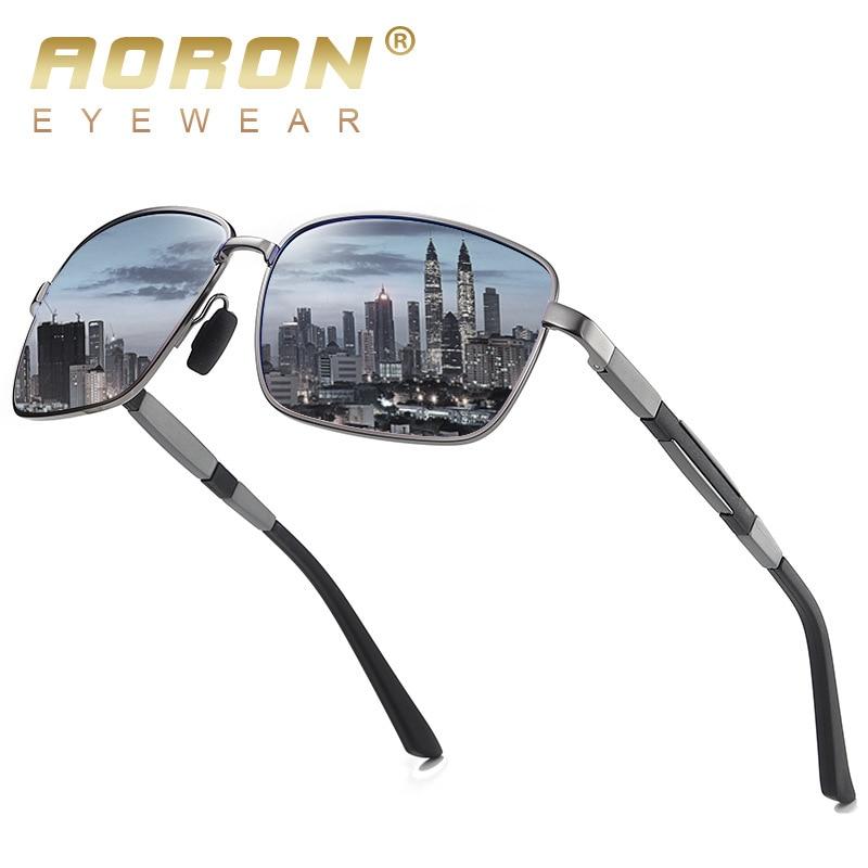 Солнцезащитные очки AORON Мужские поляризационные, классические модные квадратные солнечные очки для вождения, UV400
