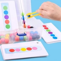 colorful clip beads test tube early education toys color cognition kids science experiments parent child interactive fun games