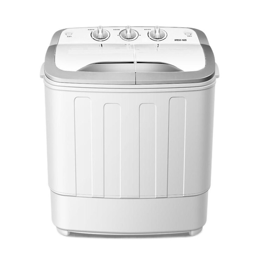 5kg Double Barrel Semi-Automatic Small Washing Machine Household Washer Mechanical Control Multifunction Home Barrel Type Washer