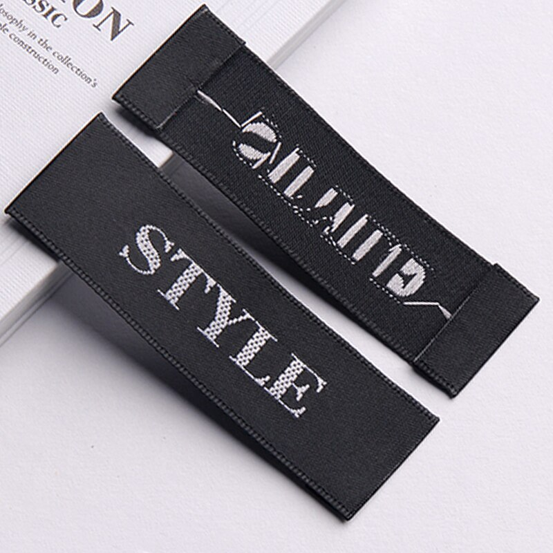 Customized garment woven labels/printed satin labels/fabric texture labels/customized clothing and other household item label