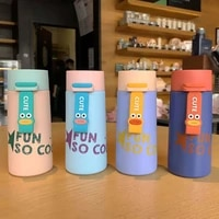 creative funny insulation cup student stainless steel simple portable drinking cup cute vacuum cup thermos bottle