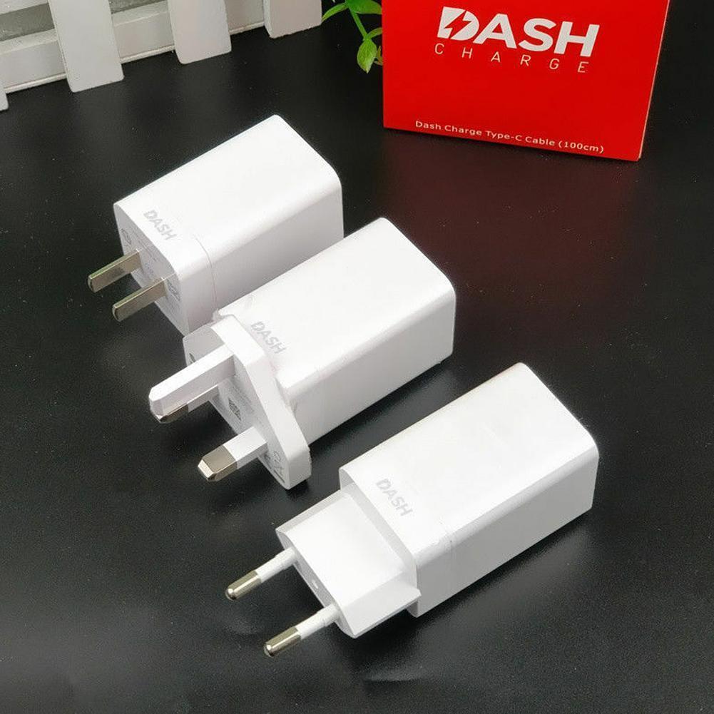 Carga rápida USB toma de corriente de pared adaptador redondo plano Cable de 5T 4A 5 / Dash de la UE Original de 6T 5V 6 pro para Oneplus 3T cargador 7 3 Q6O1