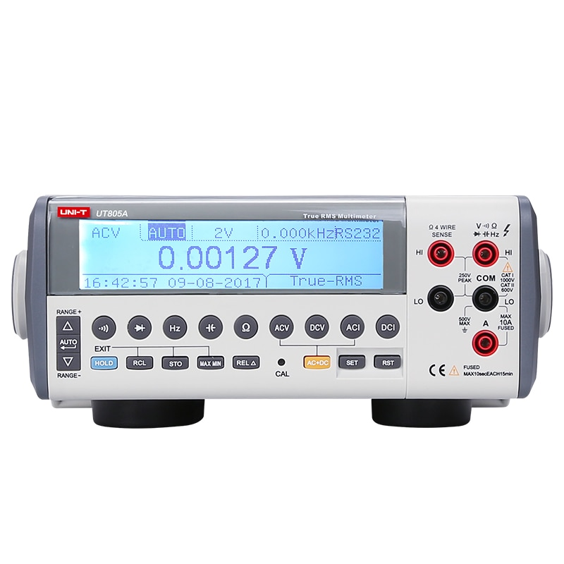 UNI-T UT805A RMS Auto de la gama de Tipo Banco multímetro Digital DMM Volt Amp 200000 cuenta