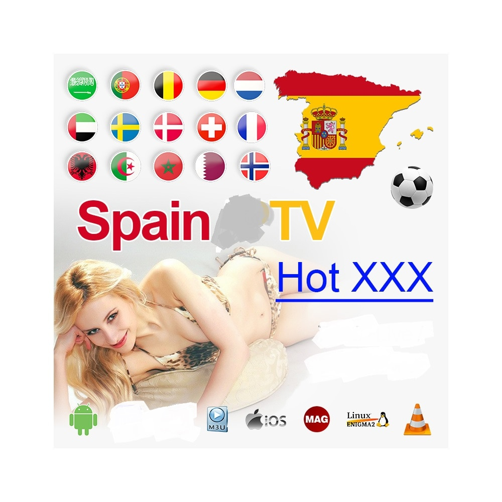 IPTV para España m3u español Portugal holandés Suecia Israel enigma2 código PC Smart TV teléfono Android caja de TV m3u los canales no incluido