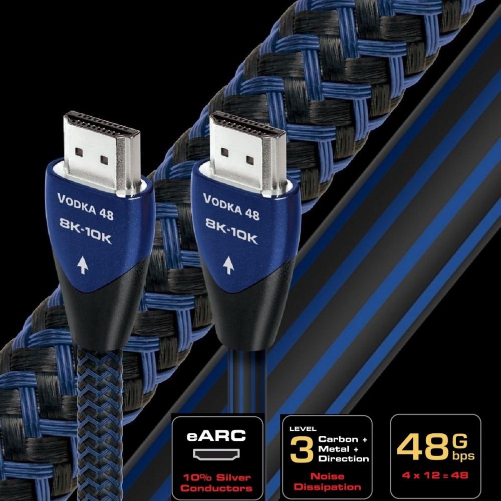 HiFi Audioquest 8K VODKA compatible con HDMI Cable de vIdeo AV Cable...
