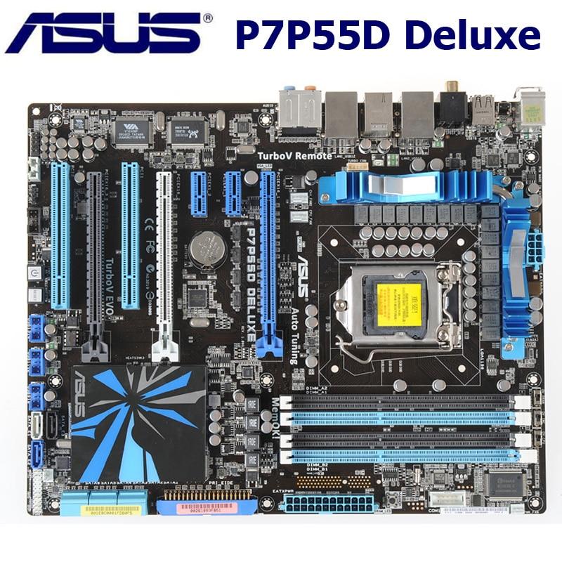 Asus P7P55D Deluxe Motherbaord Core i7/Core i5 LGA 1156 DDR3 16GB Intel P55 Original Desktop P55 Mainbaord P7P55D Deluxe 1156