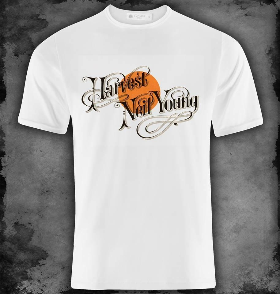 Neil Young cosecha T camiseta S M L Xl Xxl