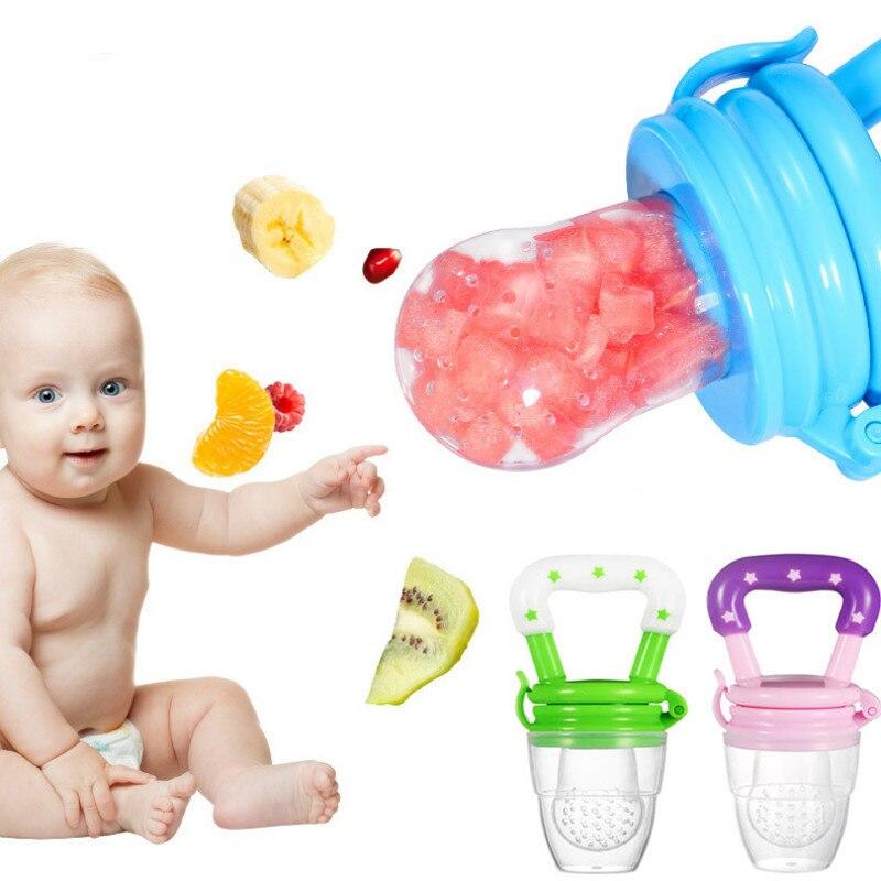 Mordedor de silicona seguro para bebé, tetina, juguete de dentición para recién nacido, anillo de fruta, suplemento alimenticio, mordedor de silicona para bebé, pezón para bebé
