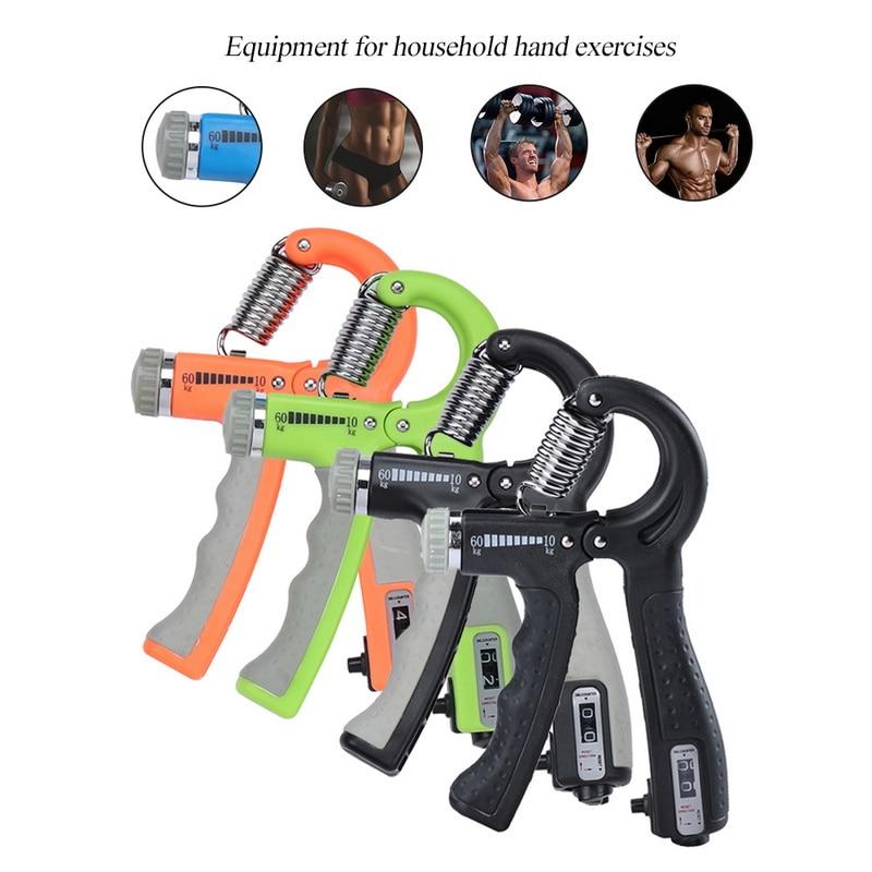 Lote de 2 unidades de 5 a 60Kg de agarre de mano para gimnasio, ejercitador pesado y ajustable para hombres, fuerza para la recuperación de músculos, entrenador de agarre de mano