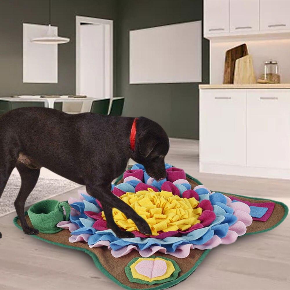 Собака ноги Pad нюхательный коврик запах носа обучающая головоломка игрушка медленно Кормление Еда диспенсер ковер моющиеся товаров для дом...