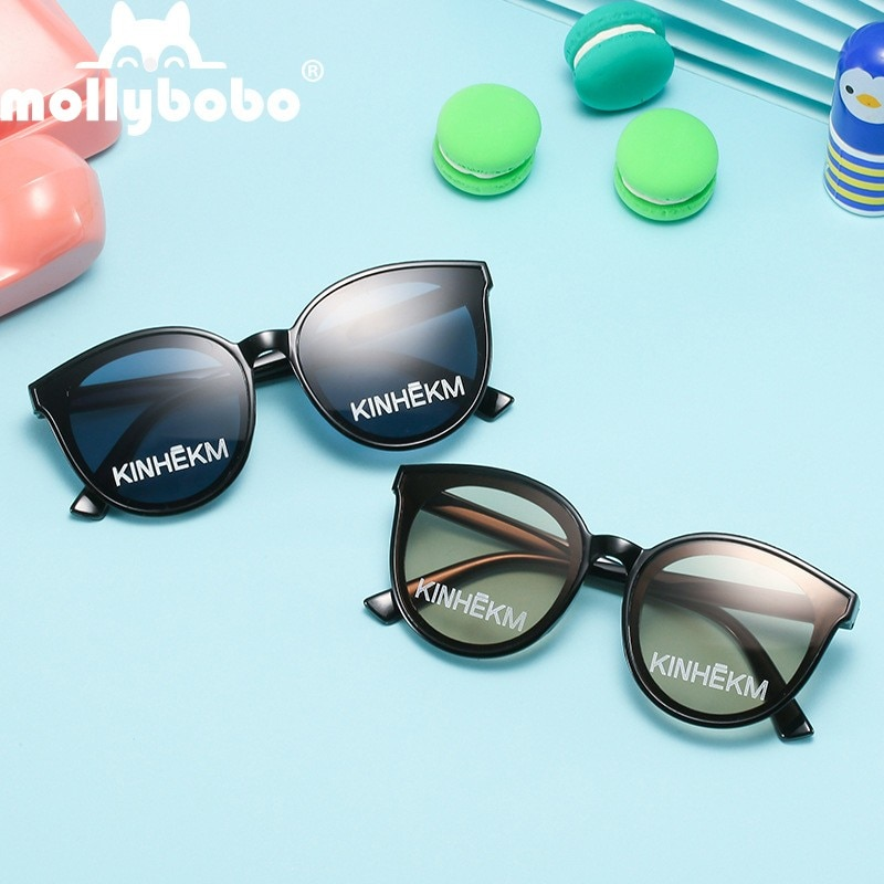 Children's Glasses Popular Hip-hop Style Fashion Sports Lens Boys and Girls Printed Sunglasses Prote
