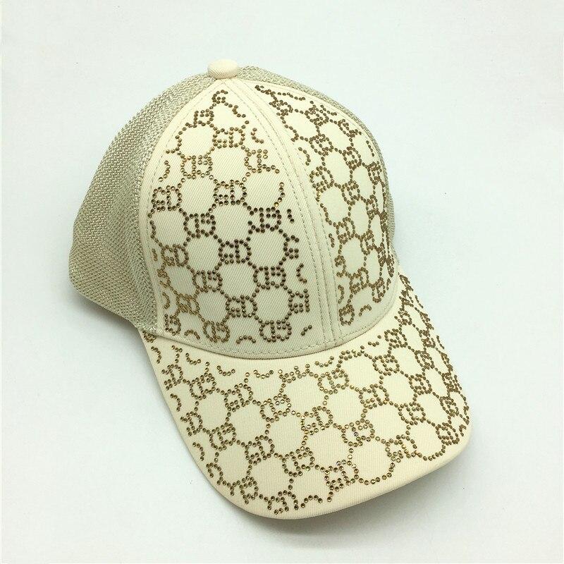 Sombrero de béisbol con piedras de malla brillantes para verano para mujer, 6 paneles, negro, blanco, gorra de camionero, sombreros deportivos, gorras de béisbol brillantes para chicas