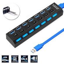 HUB USB 3.0 2.0 4 7 Ports Micro USB 3.0 HUB, Hab, haute vitesse, 5gbps, séparateur USB 3 HUB pour accessoires dordinateur, PC
